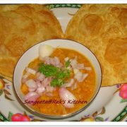 Channa masala with potato